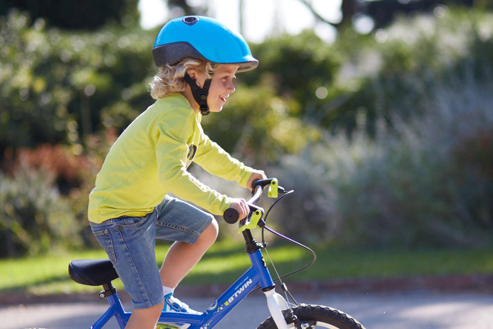 825bd323d77 Btwin Cop Trooper Kids' 16-Inch Bike - Blue 2017 - First Bike bike