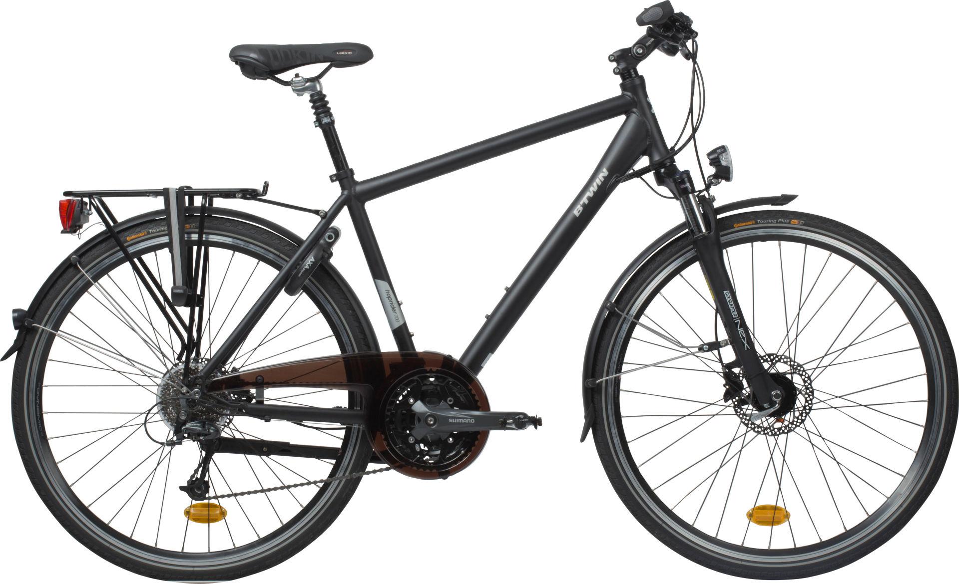 btwin hoprider 700 city bike 2017 hybrid bike. Black Bedroom Furniture Sets. Home Design Ideas