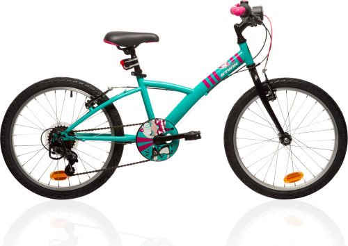 "Btwin Mistigirl 320 20"" Bike - Green/Pink 2017 First Bike bike"
