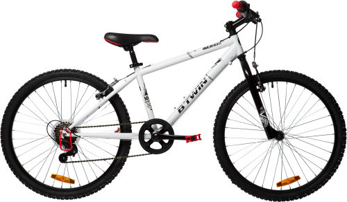 Btwin Rockrider 300 Kids' 24-Inch Mountain Bike - White 2017 City bikes bike