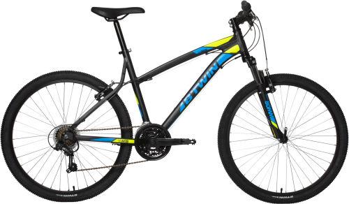 Btwin Rockrider 340 Mountain Bike - Black/Yellow 2017 Trail (all-mountain) bike