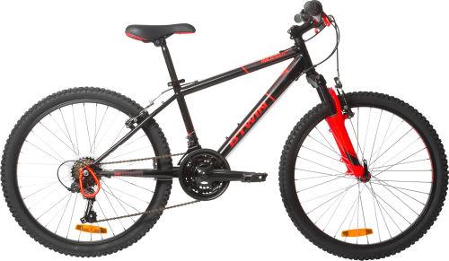"Btwin Rockrider 500 Kids' 24"" Mountain Bike - Black/Orange 2017 City bikes bike"